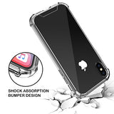 iPhone X Case, Ultra Thin and Slim Clear Soft TPU Bumper Hard Back Panel Cover X