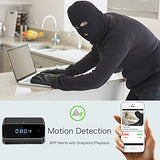 Wireless Security Mini Hidden Spy Camera Clock 1080P Night Vision w/ Remote View