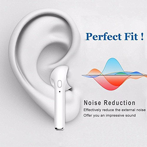 Bluetooth 4.1 Earbud,Mini Wireless Headset Earphone headphone for apple iPhone X iPhone 8 8plus 7 7 plus 6s 6s plus nd Samsung Phones and Android Phones (Single right ear)- (White) (s1)