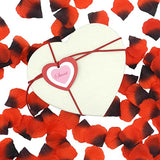 Cualfec 100 Pcs Red Valentine Tags With String for Valentines Day Gift Wrapping