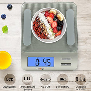 AccuWeight Digital Kitchen Multifunction Food Scale for Cooking with Large LCD