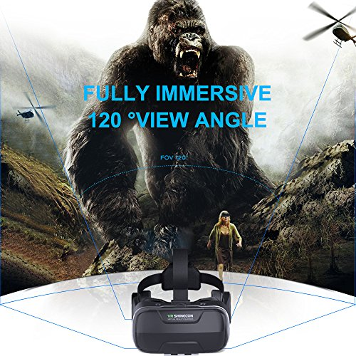 Eleovo 3D VR Headset With Remote Controller Large Viewing Experience Virtual for