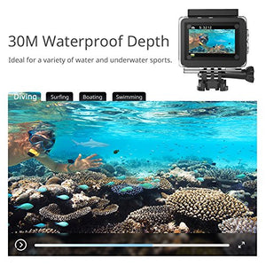 Victure Action Camera 4K Wifi 16MP 98Feet Waterproof Underwater Camera 170° 2 2