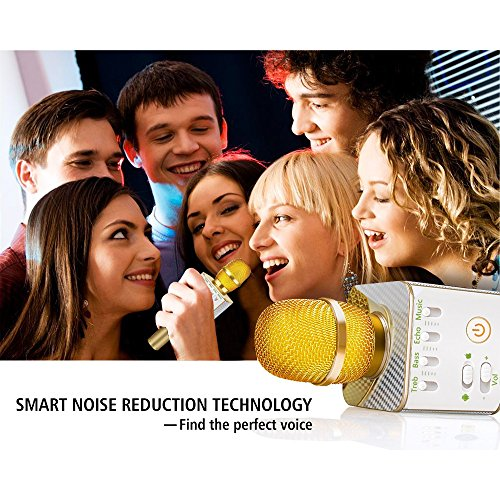 [2018]Nequare Bluetooth Microphone Karaoke 2800mAh Wireless Microphone Karaoke Portable Microphone Karaoke Bluetooth Mic Speakers Karaoke