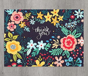 48 Floral Thank-You Cards Bulk - Perfect for Wedding, Engagement, Baby Shower, K