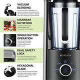 Flexzion Vacuum Blender Smoothie Maker - Portable Electric High Speed Fruit Ice