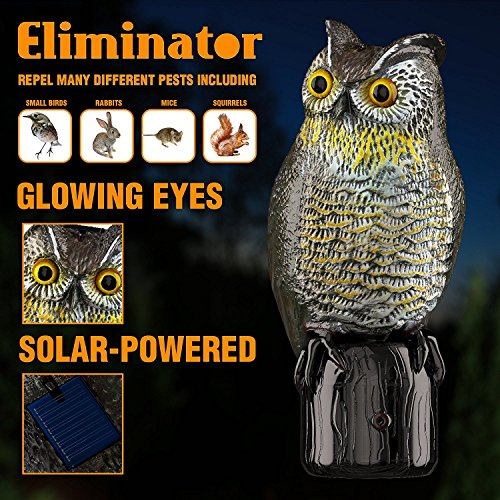 Eliminator Pest Control Scarecrow Owl Decoy Repeller & Deterrent with Scary Eyes