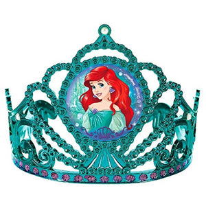Amscan Girls Enchanting Disney Ariel Dream Big Birthday Electroplated Tiara Pack