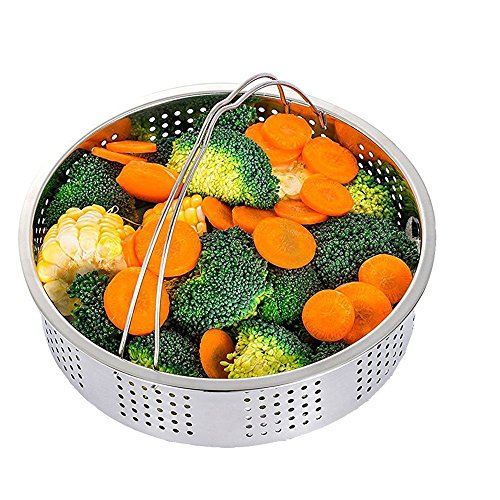Steamer Basket w/ Egg Steamer Rack for Instant Pot & Pressure Cooker 2 Piece