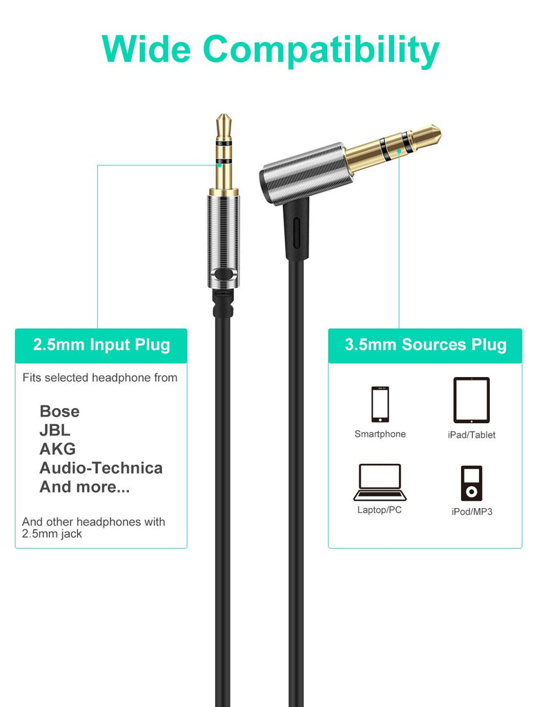 LASMEX 3.5mm to 3.5mm Audio Cable Compatible with Headphones with 3.5mm Jack