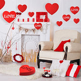 KUUQA 28 Pieces Valentines Lawn Decorations Valentines Day Hanging Hearts for
