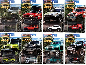 2016 Matchbox Jeep Anniversary Edition Jeep Set of 8 Cars