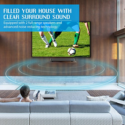 Soundbar TV-Sound Bar-Wired and Wireless Bluetooth Home Theater TV Speaker, Bar