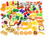 Play Food Set 135 Pieces Play Kitchen Set, Market Educational Pretend Play Food,