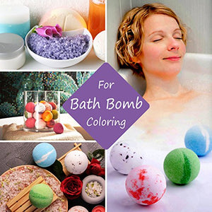 18 Color Bath Bomb Soap Dye with Shrink Wrap Bags - Food Grade Skin Safe for DIY