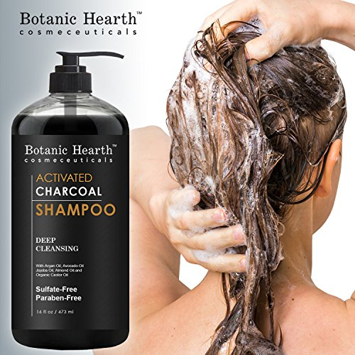 Botanic Hearth Activated Charcoal Shampoo, Sulfate Free - Daily Clarifying and