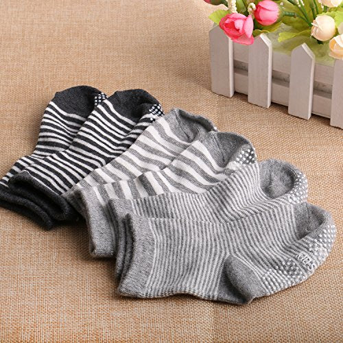12 Pairs Assorted Toddler Socks Non Skid Anti Slip Stretch Knit Ankle Cotton Grip Walkers Socks for 12-36 Month Baby Boys Girls