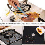 Gas Stove Burner Covers 4 Pack 10.6x10.6 Reusable Dishwasher Safe, Easy to Clean