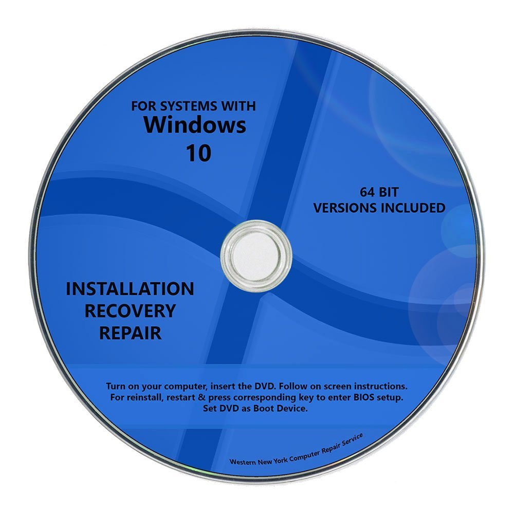 Windows 10 Pro & Home Install Reinstall Restore Upgrade Repair Recovery 64bitx64