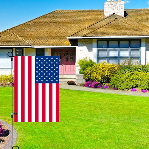 Garden Flag Stand-pole-holder Come with garden flag Stopper and Anti-wind Clip 3