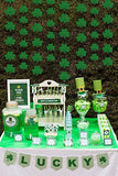 12PCS St. Patrick's Day Shamrock Decorations - Lucky Irish Party Hanging Garland