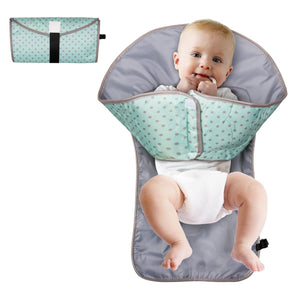 Portable 3-in-1 Baby Diaper Changing Station Time Playmat w/ Redirection Barrier