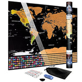 Scratch Off World Map Poster – Travel Tracker Map – With Country Flags – Amazing