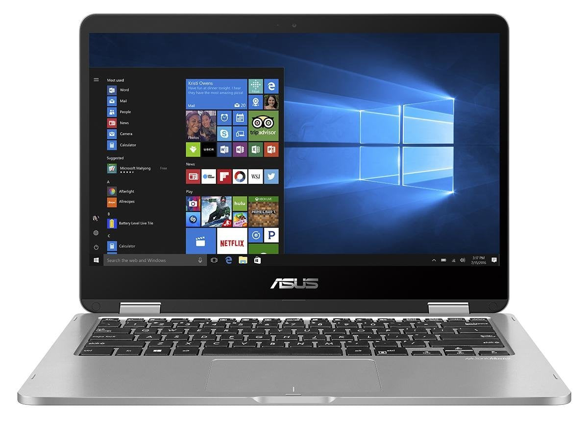 ASUS VivoBook Flip 14 Thin and Light 2-in-1 HD Touchscreen Laptop, Intel Quad-Core Pentium N4200 Processor (2.5GHz), 4GB RAM, 64GB EMMC Storage, Windows 10 Home