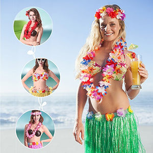 36 Pack Hawaiian Leis Party Supplies with Multicolor Design for Theme Party Event Decorations by WEfun