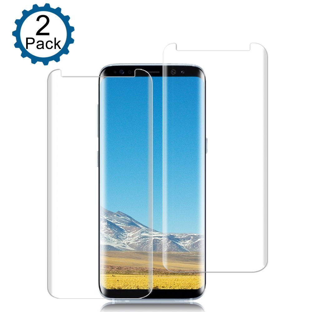 Tempered Glass Film Screen Protector for Samsung Galaxy S8 Bubble Free Pack of 2