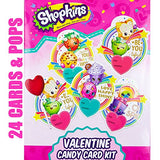 Valentines Day Classroom Exchange Gift | Shopkins 24 Valentine Cards & 24 | Card