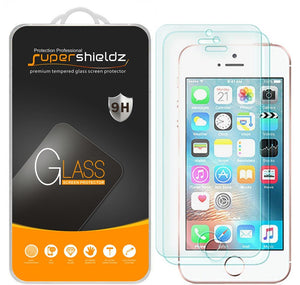 Supershieldz Tempered Glass Screen Protector for iPhone SE/5/5S/5C Pack of 2