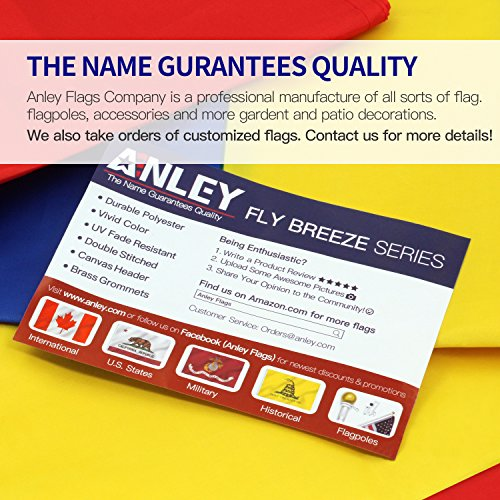 ANLEY [Fly Breeze] 3x5 Foot Rainbow Flag - Vivid Color and UV Fade Resistant - -