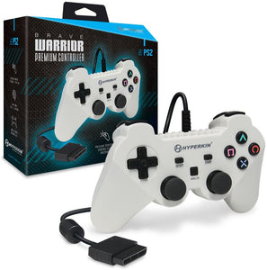 "Hyperkin ""Brave Warrior"" Premium Controller for PS2 White"