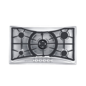"Empava 36"" Stainless Steel 5 Italy Sabaf Burners Stove Top Gas Cooktop EMPV-36GC202"