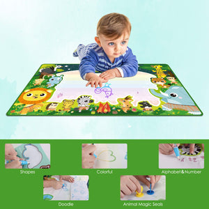 Aqua Magic Mat for Kids, 39.4x23.6Inch Large Water Drawing Mat Non-toxic Reusable Kids Toy Colorful Educational Toddler Painting Board, Drawing Accessories for Boys Girls Aged 3-12+