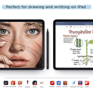 "2nd Gen Active Stylus Digital Pen Special for iPad 2018(6th Gen), iPad Air (3rd), iPad Mini (5th),iPad Pro (11""&12.9""),with Palm-Rejection.Precise Drawing and Writing, IPad Pencil with Type-C (Black)"