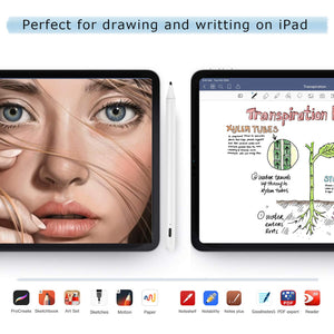"Stylus Pen 2nd Gen, Digital Pen for Apple iPad 2018(6th Gen), iPad Air (3rd), iPad Mini (5th),iPad Pro (11""&12.9""),with Palm-Rejection.Precise Drawing and Writing, IPad Pencil with Type-C Charge"