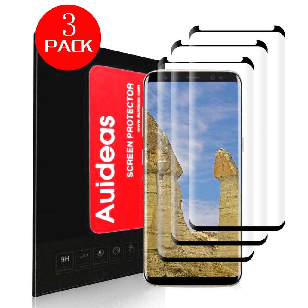 Galaxy S8 Plus Screen Protector[3-Pack],Auideas [Case Friendly] Ultra Clear 3D