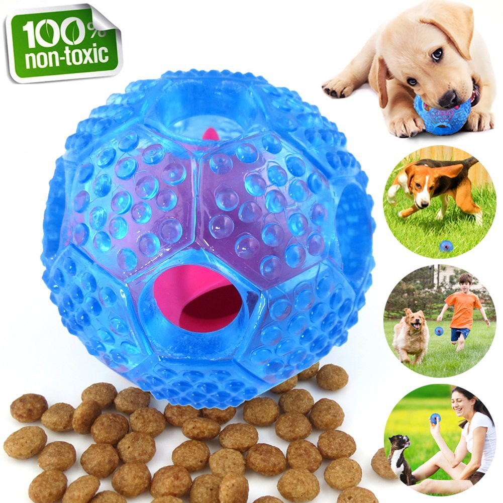Interactive Dog Toys, Dog Chew Toys Ball for small Medium dogs , IQ Treat Food