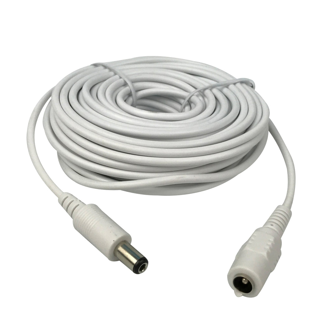 Vanxsecctv Dc 12v Power Extension Cable 10m(30ft) 2.1x5.5mm for Cctv Security Cameras Ip Camera Dvr Standalone In white Color-WPC10M