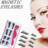 Upgraded Long Magnetic Eyelashes Plus Tweezers, Full Size and Half Size in One 2