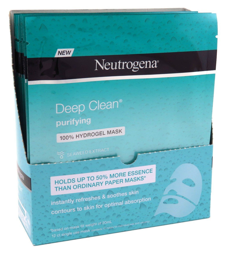 Neutrogena Deep Clean Purify Hydrogel Mask 1 Ounce (12 Pieces) (30ml)