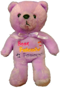 Anico Plush Toy, Occasional Stuffed Animal Bear, Best Friends Forever, Purple