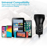 Car Charger,Quick Charge 3.0 Dual USB Ports 30 W UL Certified Fast Car Charger Adapter with iOS Cable Compatible with iPhone Xs Max/XS/XR/X/8/8 Plus/7/7 Plus/6/6 Plus/5S and More