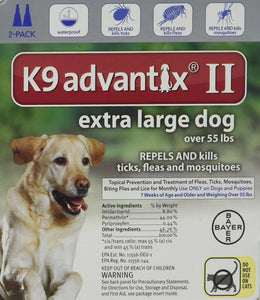 Advantix II Flea Drops, Tick and Mosquito Prevention K9 for Extra Large Dog 2