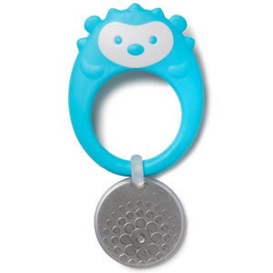 Skip Hop Stay Cool Teether, BPA-free and Freezer Safe Silicone Coated Baby Teether, Hedgehog