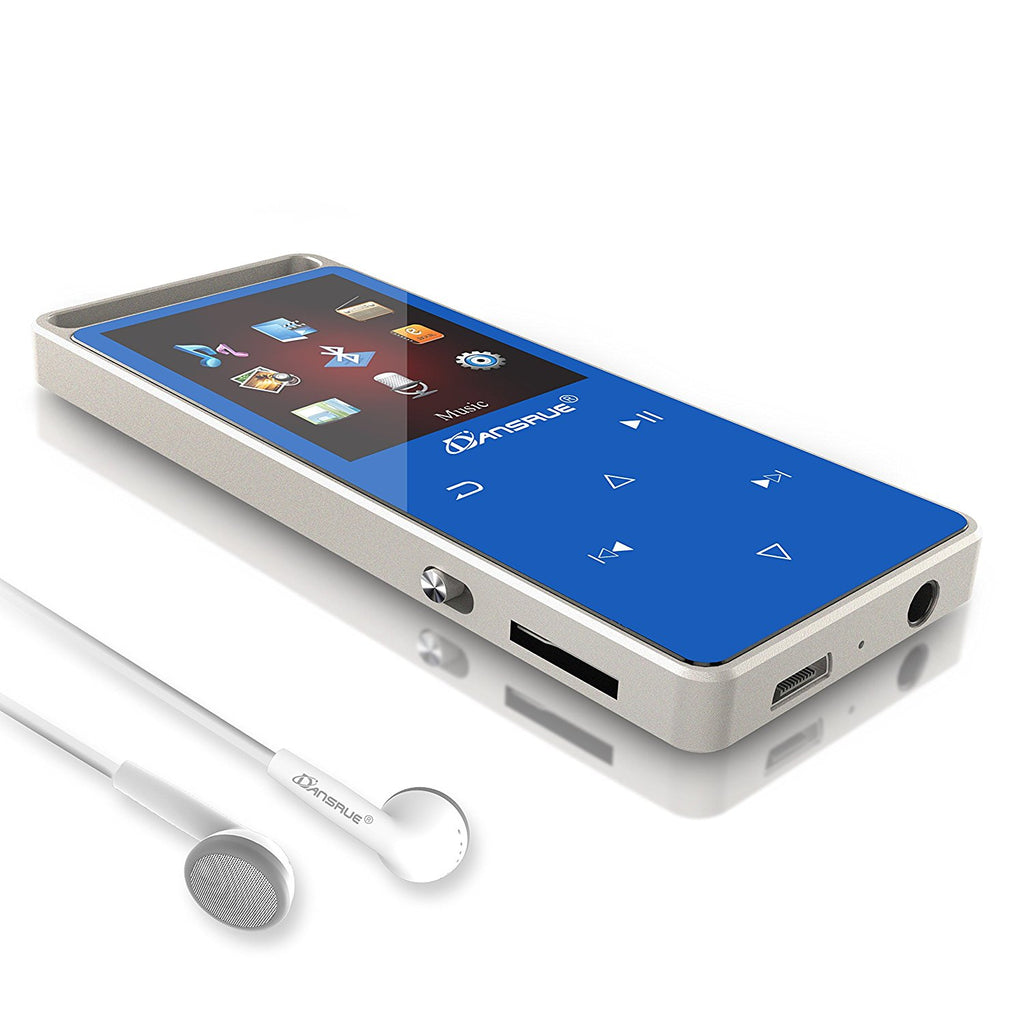 Dansrue Bluetooth MP3 Player 8 GB, Hi-Fi Lossless Sound Metal Music Player with