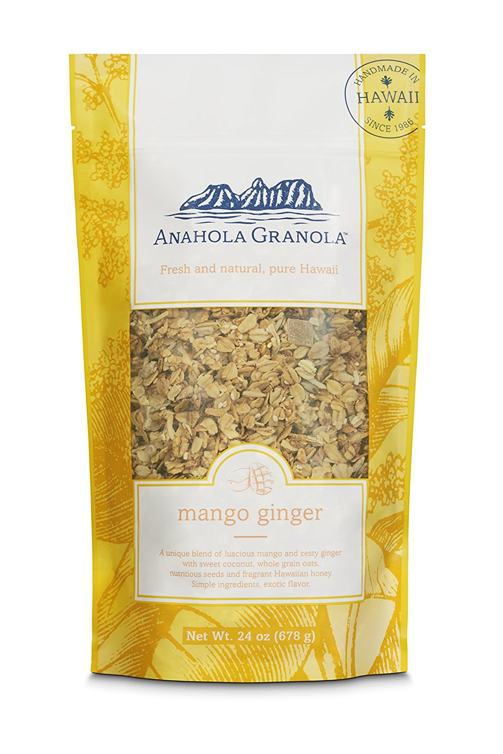 Anahola Granola 24 Oz Bag Mango Ginger