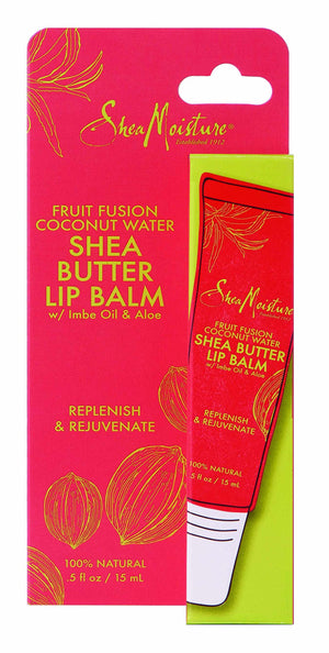 Shea Moisture Fruit Fusion Coconut Water Butter Lip Balm Care for Unisex, 0.5 Ounce
